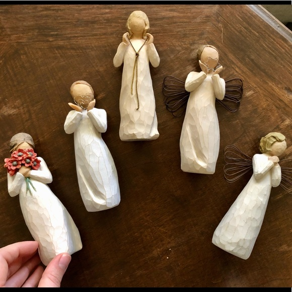 Lot of Willow Tree Angel Figurines